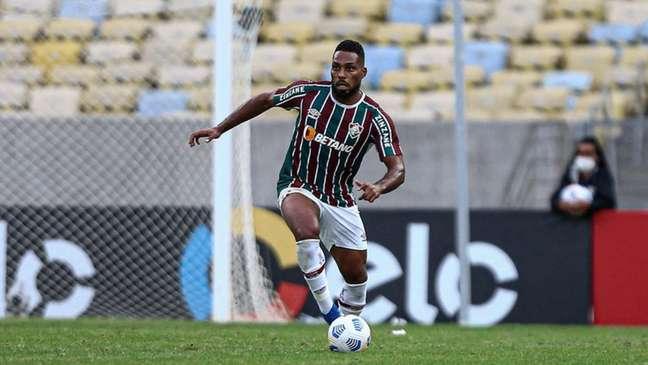 Luccas Claro, durante a vitória do Fluminense sobre o Criciúma (Foto: Lucas Merçon/Fluminense FC)