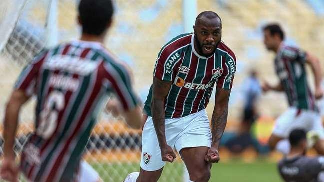 Manoel abriu o placar para o Fluminense nas oitavas da Copa do Brasil (Foto: Lucas Merçon/Fluminense FC)