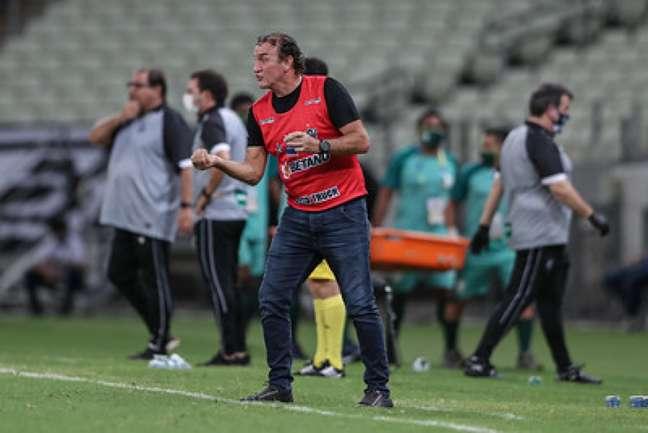Cuca protagonizou uma briga com o árbitro do jogo Ceará x Atlético-MG, com ofensas e ameaças e desculpou no dia seguinte--(Pedro Souza/Atlético-MG)