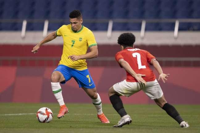 Paulinho entrou no início da etapa complementar no lugar de Matheus Cunha, autor do gol do Brasil. (Foto: Divulgação/Lucas Figueiredo)