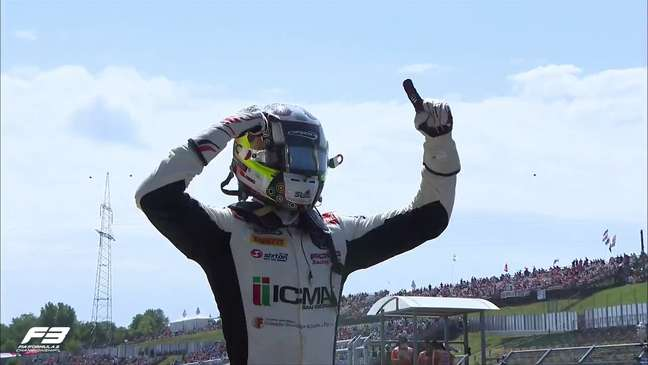 Lorenzo Colombo venceu pela primeira vez na F3 neste sábado na Hungria