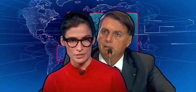 Renata Vasconcellos ao ler a nota ácida sobre Bolsonaro e o presidente durante sua controversa live