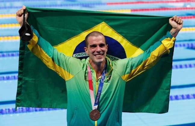 Bruno Fratus foi bronze nos 50m livre masculino (Foto: Sátiro Sodré / CBDA)