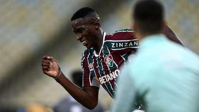 Luiz Henrique marcou o terceiro gol do Fluminense contra o Criciúma (Foto: Lucas Merçon / Fluminense FC)