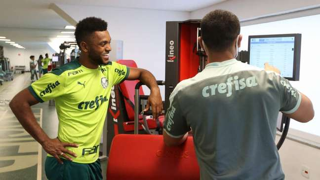 Borja voltou ao Palmeiras e está treinando na Academia de Futebol (Foto: Cesar Greco)