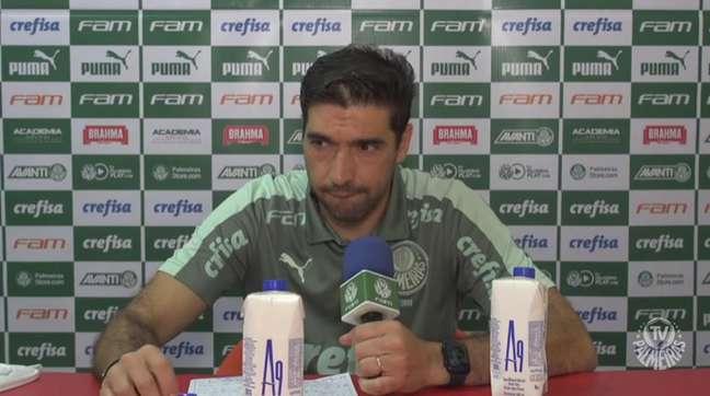 Abel Ferreira falou após o empate sem gols contra o São Paulo pelo Brasileirão (Foto: Reprodução)