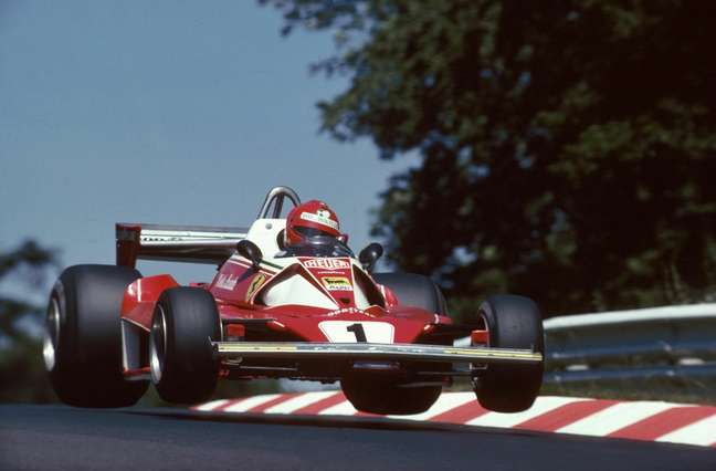 Niki Lauda na Alemanha logo antes do acidente
