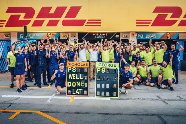 A Williams viveu um dos dias mais felizes nos últimos anos no GP da Hungria deste domingo