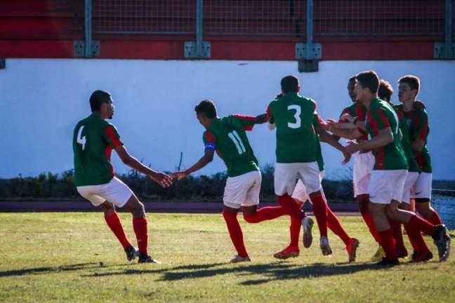 Ruan e Rafa marcaram os gols do Marítimo Brasil na vitória sobre o Caxias, pela Liga Serrana (Foto: Ageu da Rocha / Divulgação)