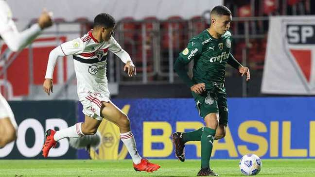 Empate sem gols com o São Paulo rendeu marca inédita a Abel Ferreira no Palmeiras (Foto: Cesar Greco / Palmeiras)