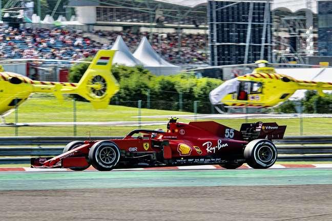 Carlos Sainz foi o quarto colocado no GP da Hungria