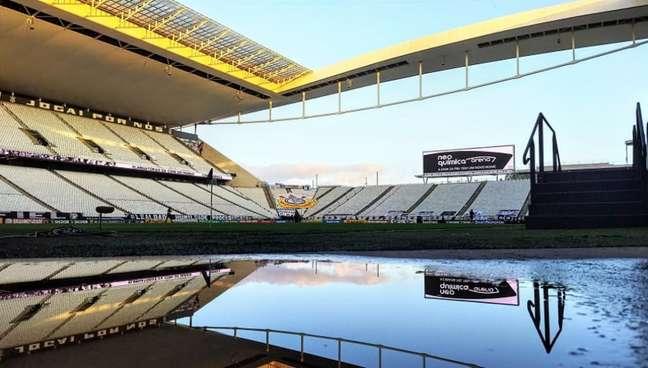 Timão está perto de fechar um novo acordo com a Caixa pela dívida da Arena (Foto: Rodrigo Coca/Ag. Corinthians)