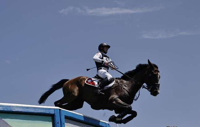 Cavalo Jet Set durante prova nos Jogos Olímpicos de Tóquio Alkis Konstantinidis Reuters