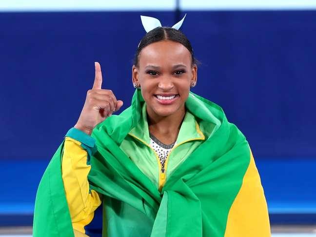 Rebeca conquistou o ouro neste domingo Reprodução twitter @timebrasil