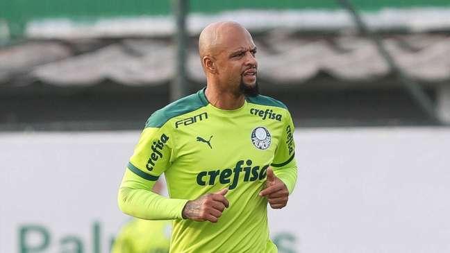 Felipe Melo tem sido titular e capitão do Palmeiras com Abel Ferreira (Foto: Cesar Greco/Palmeiras)