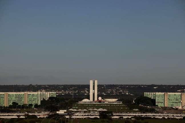 Esplanada dos Ministérios com o Congresso Nacional ao fundo, em Brasília 07/04/2010 REUTERS/Ricardo Moraes