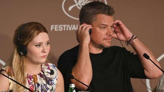 Damon contou história envolvendo ele e sua filha enquanto promovia seu novo filme, Stillwater