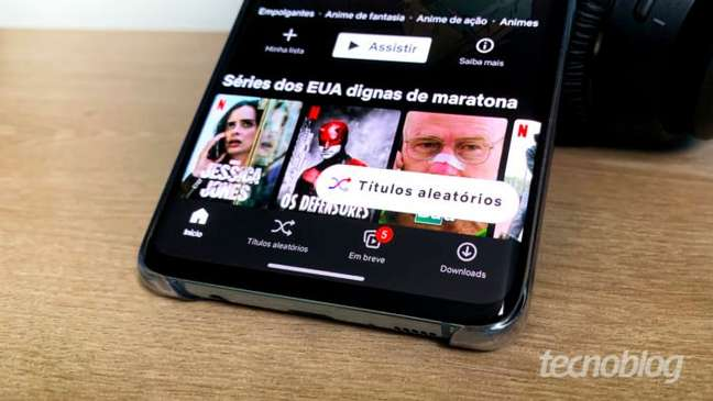 Aplicativo da Netflix no Android