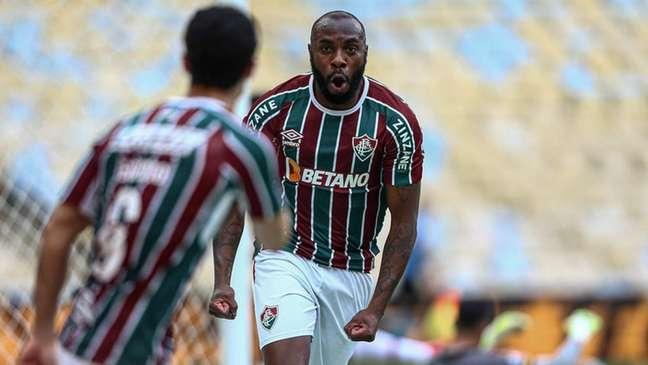 Manoel abriu o placar para o Fluminense pelas oitavas da Copa do Brasil (Foto: Lucas Merçon/Fluminense FC)