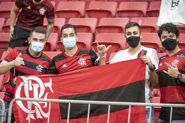 Torcida do Flamengo no Mané Garrincha. Torcida marcará presença mais uma vez Foto: Alexandre Vidal/Flamengo)