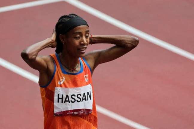 Sifan Hassan fez prova de recuperação nos 1.500m nos Jogos Olímpicos de Tóquio (Giuseppe CACACE/AFP)