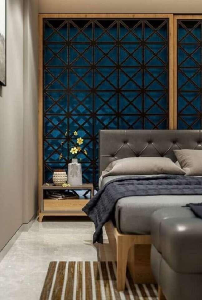 42. Decoração indiana para quarto com painel vazado. Fonte: Pinterest