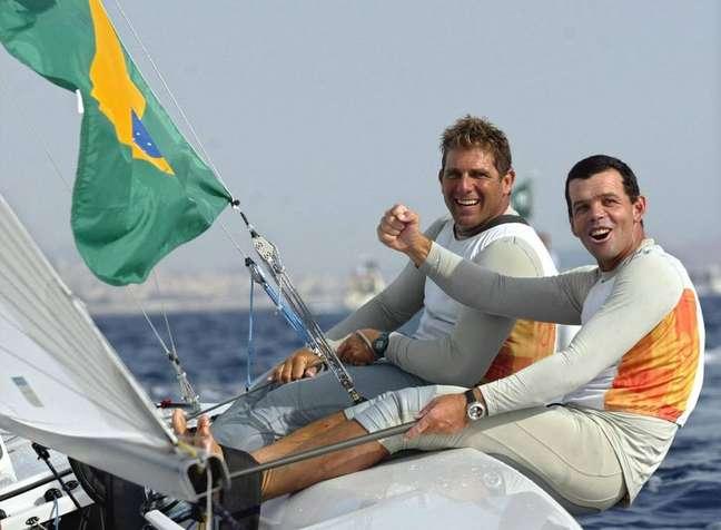 Torben Grael e Marcelo Ferreira, velejadores brasileiros.