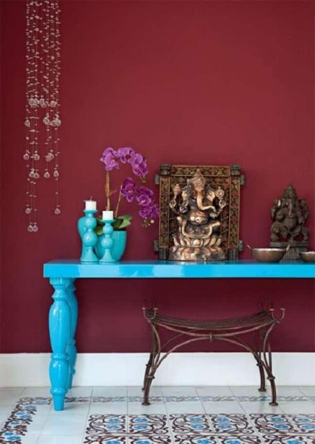 26. O altar indiano é o espaço para orações e meditação. Fonte: Arquitrecos