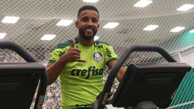 Jorge está liberado para estrear pelo Palmeiras (Foto: Cesar Greco/Palmeiras)