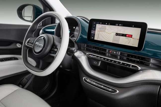 Interior do Fiat 500e