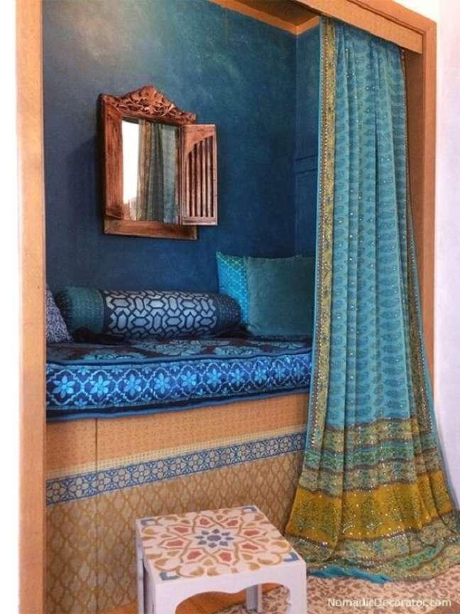 4. Tecidos leves são indispensáveis na decoração indiana. Fonte: Pinterest