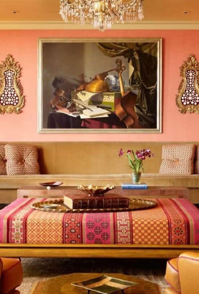 17. Os tons terrosos marcam o estilo de decoração indiana. Fonte: Pinterest