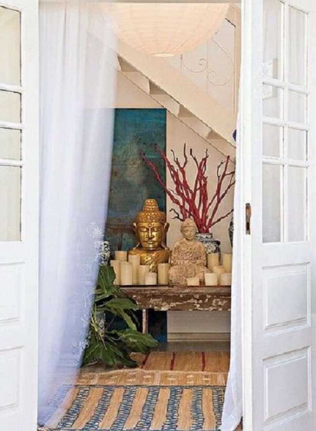 1. O altar é algo muito tradicional nas casas indianas. Fonte: Casa e Jardim