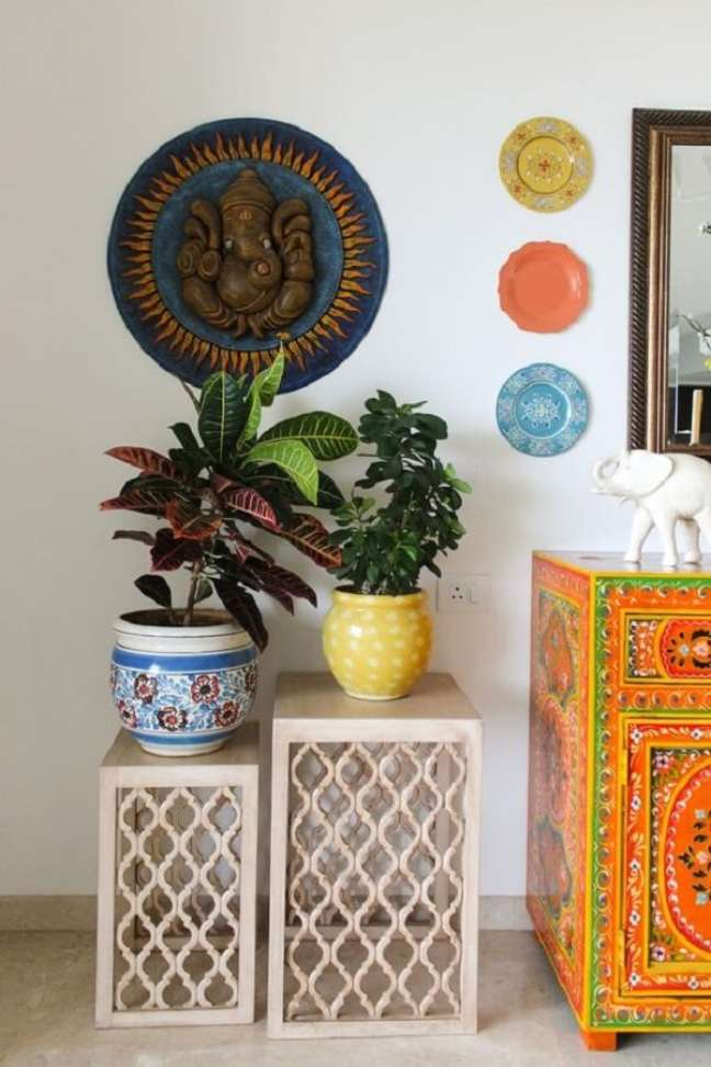 14. Se inspire nestas ideias de decoração indiana. Fonte: Pinterest