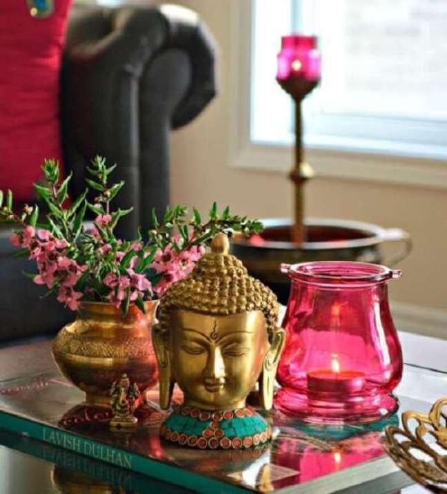 10. Buda e elefante indiano decoração são muito usados nesses ambientes. Fonte: Pinterest