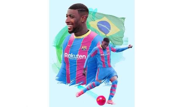 Emerson Royal foi apresentado no Barcelona (Divulgação / Barcelona FC)