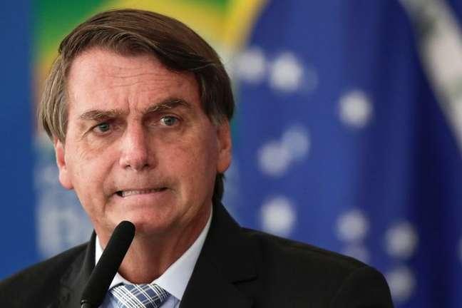 Presidente Jair Bolsonaro durante cerimônia em Brasília 10/03/2021 REUTERS/Ueslei Marcelino