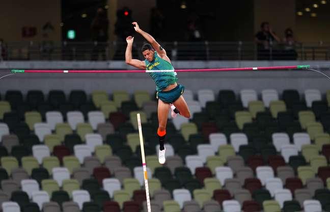 Thiago Braz conquistou a medalha de bronze no salto com vara