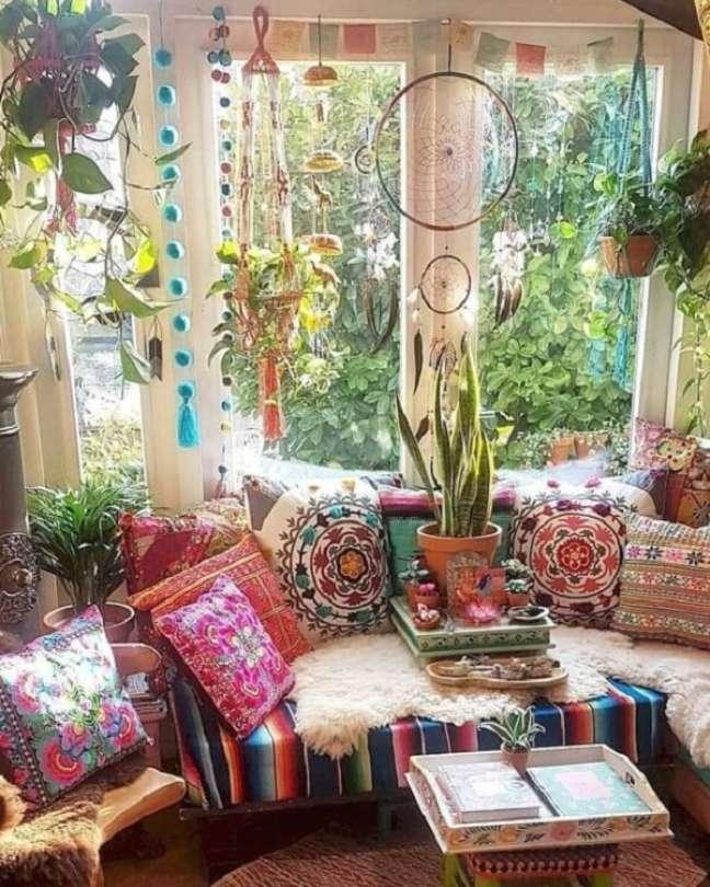 47. As plantas estão por todos os lados na decoração indiana. Fonte: Pinterest