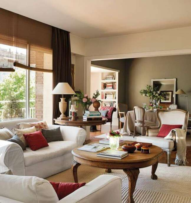 22. Mesa de centro retrô para sala de estar aconchegante estilo provençal – Foto El Mueble