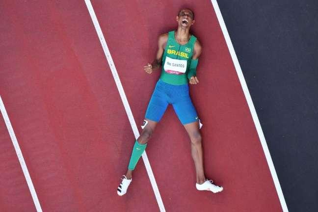 Alison dos Santos é um dos principais nomes do atletismo brasileiro da atualidade (AFP)