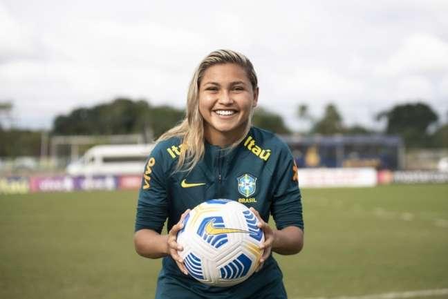 Nayra Pimentinha é um dos grandes destaques do futebol feminino do Vasco (Thais Magalhães/CBF)