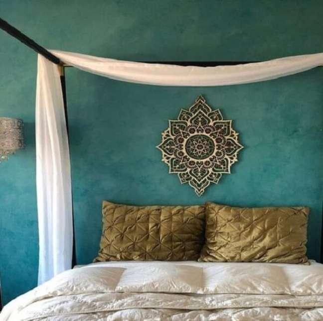 57. A mandala é muito usada na decoração indiana. Fonte: Arkpad