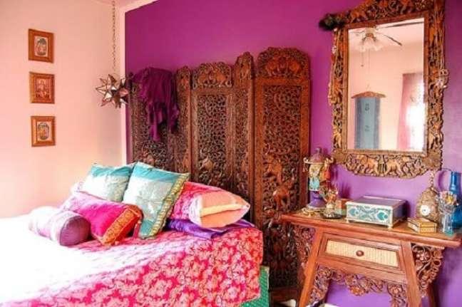 3. Ideias de decoração indiana para quarto. Fonte: Pinterest