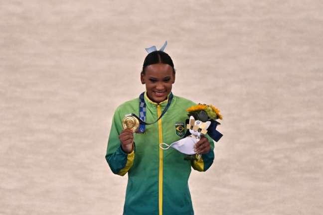Rebeca Andrade é um dos destaques do Brasil nas Olimpíadas (Foto: Jeff PACHOUD / AFP)