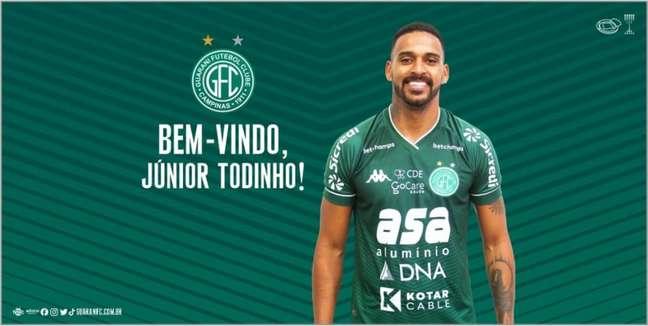 Jogador se destacou na última temporada pelo Bugre (Divulgação/Guarani)