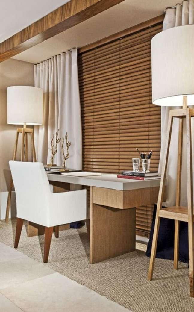 29. A persiana de madeira traz um charme a parte para o décor. Fonte: Persianet