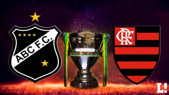 ABC recebe o Flamengo às 21h30 desta quinta-feira, na Arena das Dunas (Foto: Arte LANCE!)