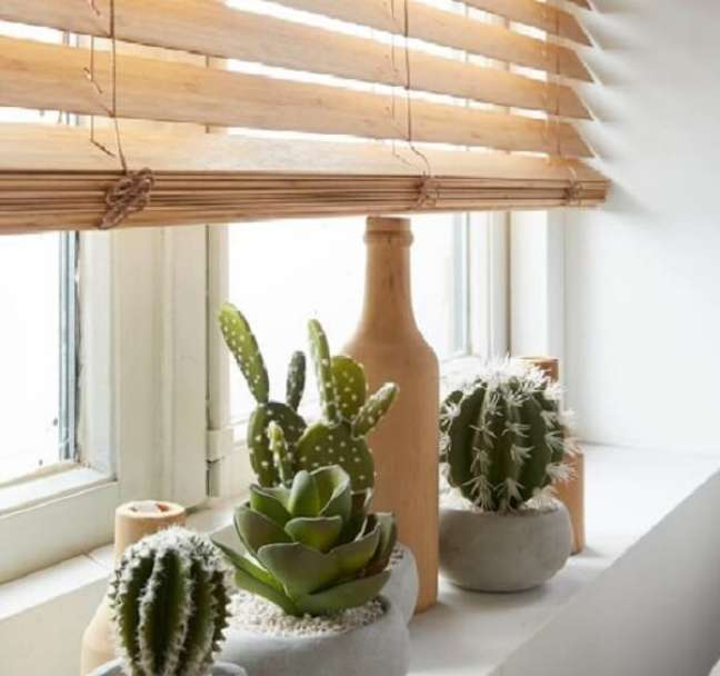 15. A persiana de madeira combina com diferentes estilos de decoração. Fonte: Pinterest
