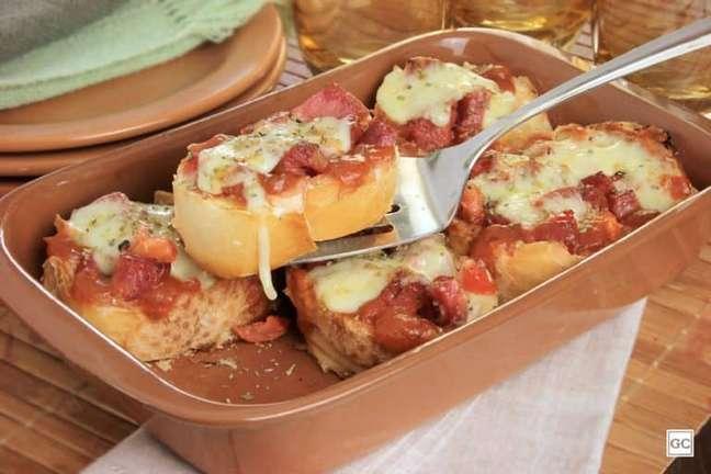 Guia da Cozinha - Torta-bruschetta para um jantar improvisado